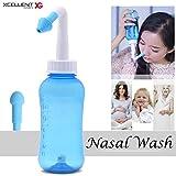 Xcellent Global Lavado Nasal Limpiador Nasal por Irrigación Enjuage Sinusal Cuidado de la nariz para el tratamiento de rinitis alérgica para adultos y niños 300ml