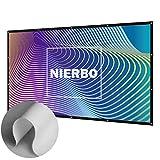"""Écran de Projection, NIERBO 100"""" Toile Projection Ecran Rideau Videoprojecteur Ecran Projection Tissu Pliable(227X132cm)"""