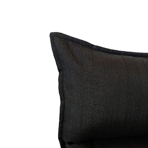 Rebecca Mobili Chaise de Méditation Siege de Sol Métal Noir Polyester Pliable Balcon Maison (Cod. RE6198) 27