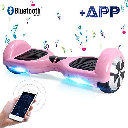 BEBK Hoverboard, 6.5' Smart Self Balance Scooter Overboard con Bluetooth, Funzione App,...