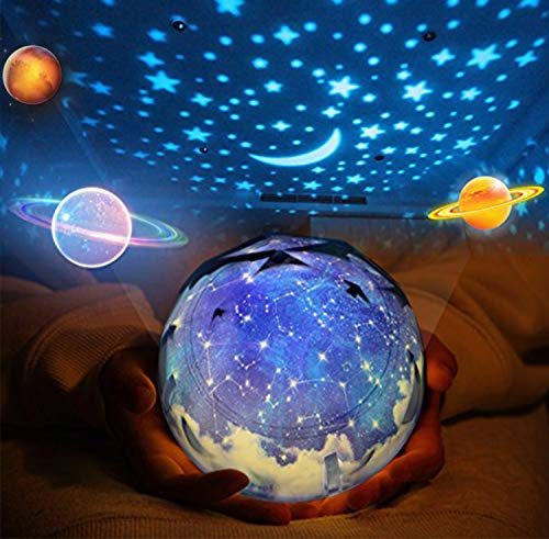 Rotante Stella Proiettore di luce, Bambino Luce notturna, 5 Stili Decorativo Luce d'atmosfera per...