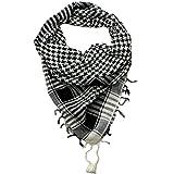Craftshub Black & White Desert Arafat Scarf - Stylish Arafat desert scarf for both men and women