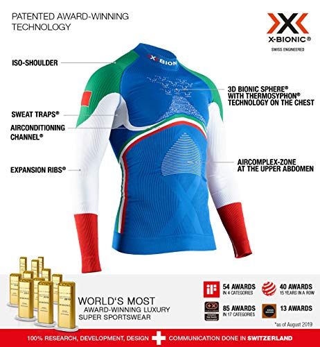 X-Bionic Energy Accumulator 4.0 Patriot Turtle Neck Long Sleeves Italy, Strato Base Camicia...