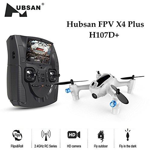 Hubsan H107D+ X4 FPV Droni Quadricotteri Fotocamera 1080P HD 5.8Ghz con Telecomando(H107D+)