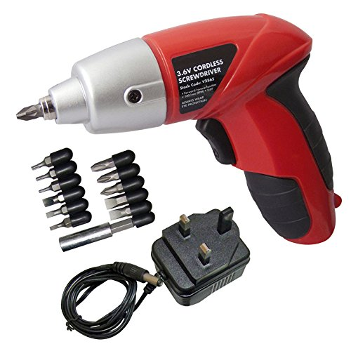 SPARES2GO Mini Cordless Rechargeable Electric Screwdriver