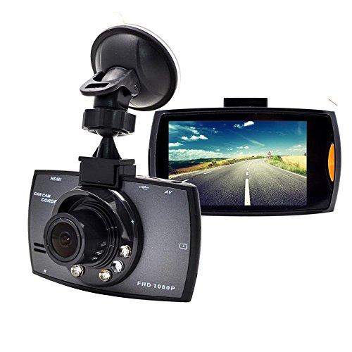 Dash Cam, Auto TKSTAR auto cruscotto fotocamera veicolo DVR Full HD 1080P 120gradi grandangolare con funzione di visione notturna, WiFi, Reserve Rearview Camera jug30