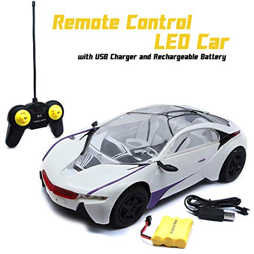 Wembley Toys Powerful Remote Control Car led Super Car high Speed RC Car with USB Charger and Rechargeable Battery(Blue/ Purple)