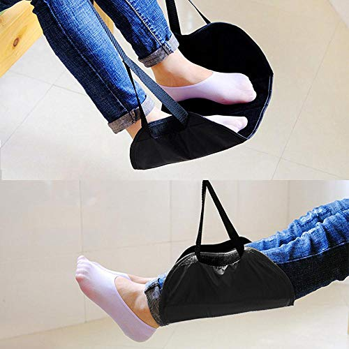 Womdee Airplane Footrest, Portable Travel Foot Hammock to Prevent Swelling and Soreness with Adjustable Height for Flight Bus Train Office Home