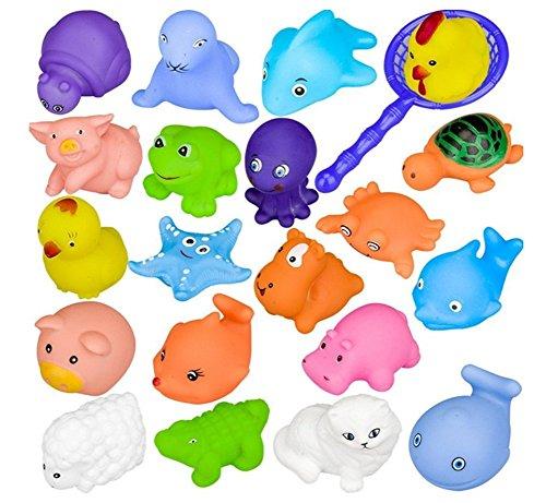 10PCS Juguete Baño Bebe, Juguetes Animados con Sonidos Toy Diverdidos Lindos para Agua Piscina Baño