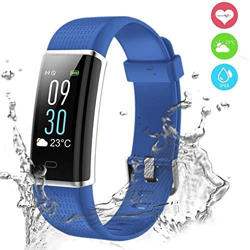 Fitness Tracker, Orologio Fitness Impermeabile IP68 Braccialetto Fitness Cardiofrequenzimetro da...