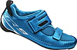 Shimano Erwachsene Fahrradschuhe Triathlonschuhe SH-TR9 GR. 44 SPD-SL Klettverschl. Straßen Radschuhe, Blau (Blue), EU