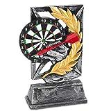Goods & Gadgets Dart Trophäe - Dart Sieger-Pokal Sieges-Statue 18cm aufwendig modelliert & handbemalt