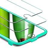 "ESR Pellicola per iPhone 8/7 Plus [2 Packs][Kit d'Installazione Gratis], Pellicola Vetro Temperato [Anti-Graffo/Olio/Impronta] con 9H Durezza Protezione Elevata per iPhone 8/7 da 5.5"""