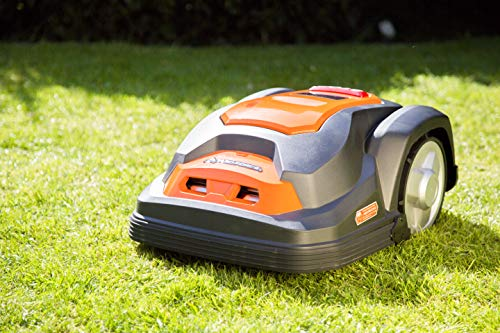 The Yard Force SA500ECO Robomower is a good match for small to medium sized gardens. We like the way it can be set to work for specific hours per day and how easy the touch screen is to use and get everything up and running.