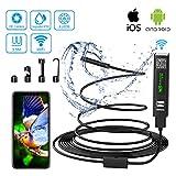 WiFi Endoskopkamera USB Endoskop Inspektionskamera Halbsteife Kabel 2.0 Megapixels 1200P HD IP68 Wasserdicht Endoskopkamera mit Licht für Android,IOS,iPhone,Samsung,Windows,Laptop