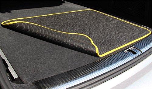 Kofferraummatte Schmutzfangmatte Unterlegmatte Kofferraumschutzmatte | Made in Germany Farbe Gelb