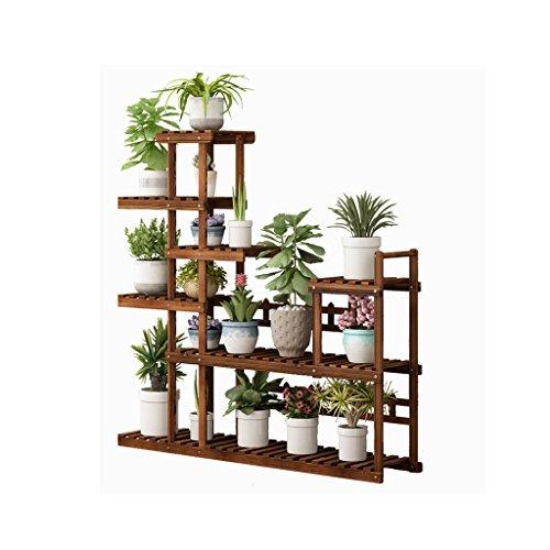 LEI ZE Jun UK- Parquet in massello di Legno per balconi Rack Multi-Layer per Piante Speciali A...