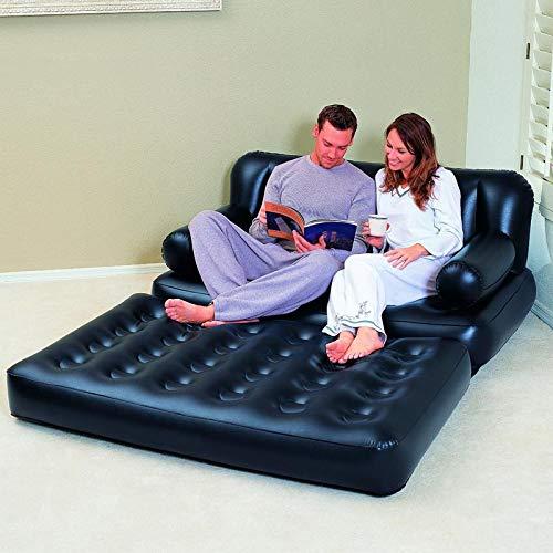 Bestway Materasso matrimoniale gonfiabile divano poltrona letto 5 in1 + pompa per gonfiarlo