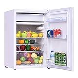 COSTWAY Mini Kühlschrank mit Gefrierfach Kühl-Gefrier-Kombination A+ 123L
