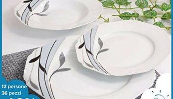Offerta servizio piatti moderni da tavola colorati in ceramica di ...
