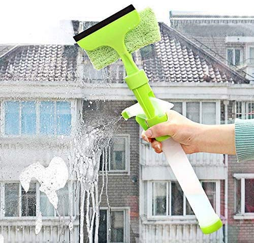 Sajani Easy Glass Cleaner 3 in 1 Spray Type Cleaning Brush Glass Wiper Window Clean Shave Car Window Cleaner Brush, Random Color