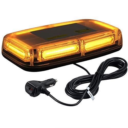 Justech 6 - COB LED 60W Lampeggiante Arancione LED Strobo Spia 12V 24V Luci Lampeggianti Emergenza Fari Stroboscopiche con Base Magnetica per Auto Rimorchio Camion Furgone Van Caravane
