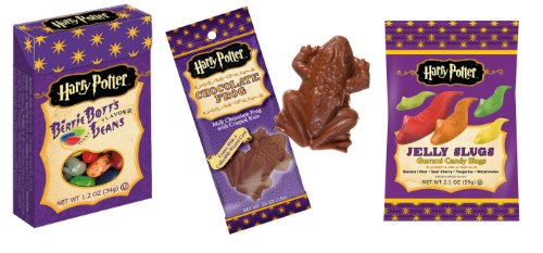 Harry Potter Candy Lover's Pack - Bertie Botts/Chocolate Frog/Jelly Slugs