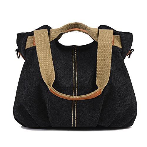 LOSMILE-Womens-Handbag-Canvas-Shoulder-Bag-Top-Handle- c35853ca61b26