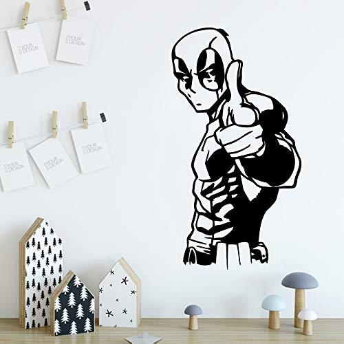 Deadpool Autoadesivo Vinile Impermeabile Wall Art Decal Soggiorno camera da letto Adesivo Home...