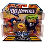 DC Universe – Action League – Superman vs. Bizarro – 2 Mini Figurines