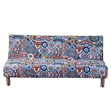 WINOMO Cubierta de futón sin Brazo Cubierta Deslizante Espesa Cubierta de sofá sofá Protector 4 plazas Silla de sofá Cubierta 235-310cm