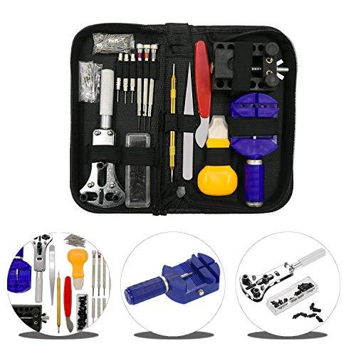Urxtral 144PC orologio kit di riparazione professionale Spring Bar Tool set