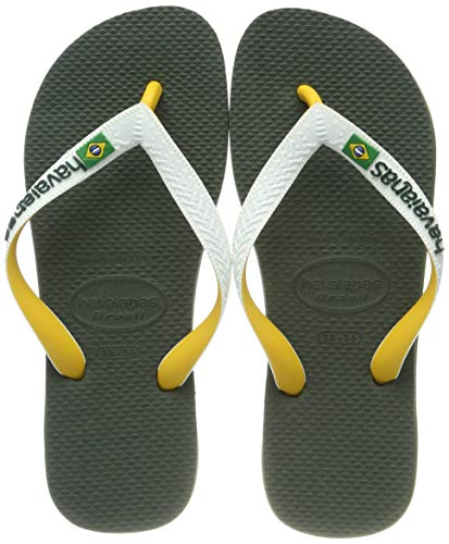 Havaianas Brasil Mix Infradito Unisex – Adulto, Verde (Olive Green), 45/46 EU ( 43/44 BR)