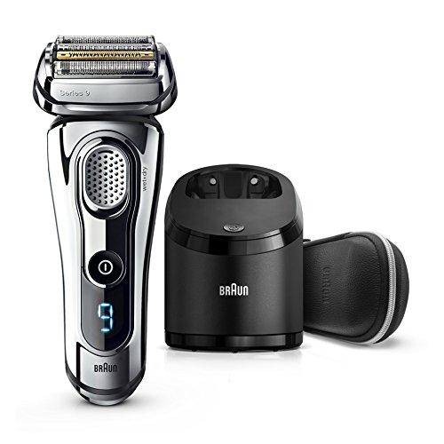 Braun Series 9 9296 cc Premium - Afeitadora eléctrica con Tecnología Wet & Dry y sistema Clean & Charge, color cromo