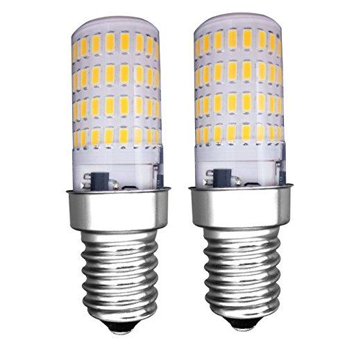 Mzming [2 pezzi] E14 lampadina LED 4W Lampadina del Frigorifero - Dimmerabile 3000K Bianco Caldo...