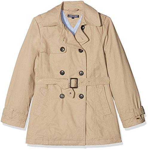 Tommy Hilfiger Thkg Trench Coat Giacca, Beige (Batique Khaki 052), 128 (Taglia Produttore: 8) Bambina