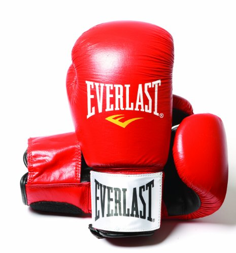 Everlast Fighter - Guantes de boxeo, color rojo/negro, talla 12oz