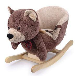 Rocking Horse de Doble Uso para niños Rocking Horse Baby Plush Silla Mecedora Regalo de bebé 60 * 27 * 48 cm Xuan…