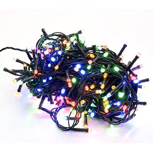 takestop 400 LED LUCI Multicolor Colorate Colore Filo Verde Albero di Natale Catena Luminosa...