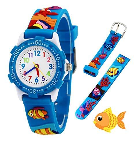 Orologio analogico da polso per bambine, bambini sport impermeabile 3D cute Cartoon giocattolo per...