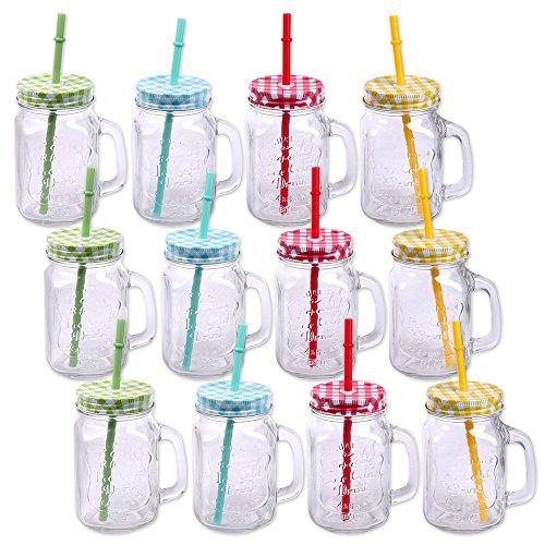 Confezione da Bicchieri con coperchio, con manico e cannuccia Cannuccia Bicchieri in...