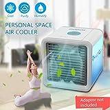 Condizionatore Portatile, 3-in-1 Mini Raffrescatore Evaporativo Umidificatore Purificatore D'aria [Senza Freon & Eco-friendly] USB Climatizzatore con Raffreddamento ad Acqua per Casa/Ufficio/Camper/Garage (Grigio)