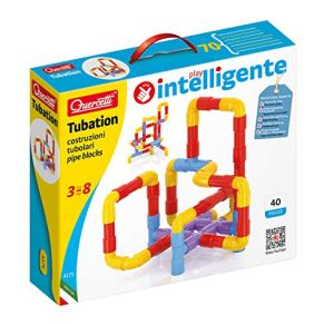 Quercetti 4175 juguete de construcción - Juguetes de construcción (Tube set, Azul, Rojo, Amarillo, 3 año(s), 40 pieza(s), Niño/niña, Niños) , color/modelo surtido