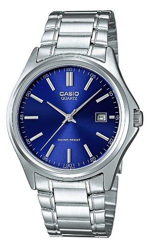 Casio Herren Analog Quarz mit Edelstahl Armbanduhr MTP1183PA2A