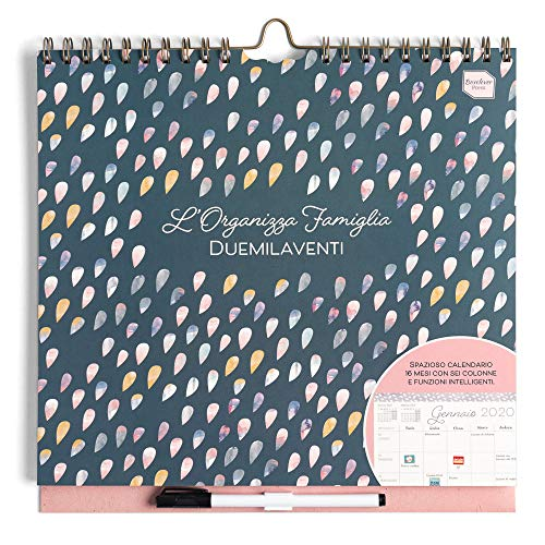 Boxclever Press L'Organizza Famiglia calendario 2019 da muro. Calendario famiglia accademico,...