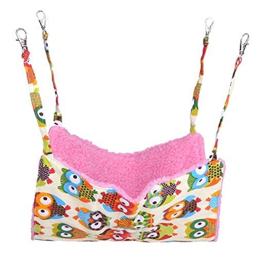 Pinkdose® As Show, S: Soft Coral Fleece Bird Rat Rabbit Chinchilla Cage Hammock Small Animals Dog Hammock Cat Canvas Hanging Bed Cover Bag Blanket S