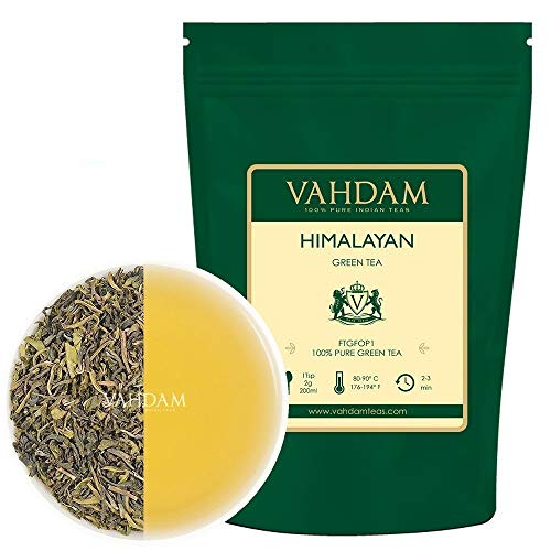 Foglie Di Tè Verde Da Himalayan, 255g (120+ tazze) | Il Thè Verde Disintossicante Per perdere peso | Ricco di antiossidanti | the in foglie | tisane| Green Tea dall'India