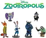 Bullyland Disney Zoomania Zootropolis Zootopia Ensemble complet 6 Figurine