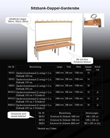 Garderoberckwand-2-seitig-2-x-Sitzbank-HxBxT170x200x60-cm-Marke-Szagato-Umkleidesitzbank-Umkleidebank-Garderobenbank-Bank
