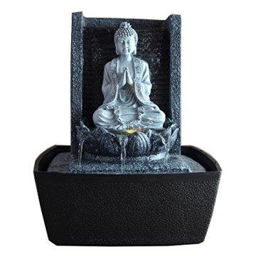 Zen'Light Fuente de Interior, Plateado, 20 x 15 x 26 cm 2